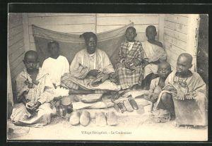 AK Village Senegalais, Le Cordonnier, afrikanische Schuhmacher