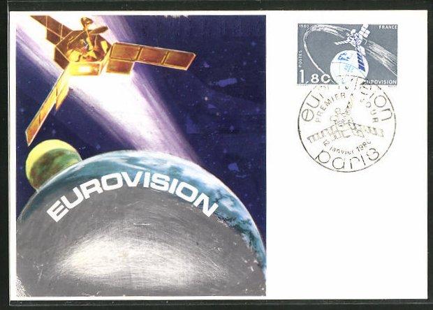 AK Raumfahrt, Satellit EUROVISION umkreist die Erde