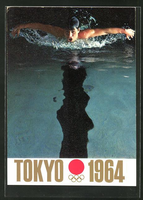 AK Olympia Tokyo 1964, Schwimmer im Wasser
