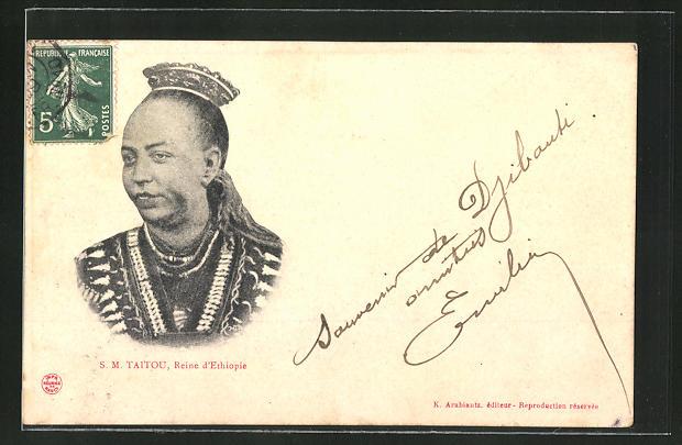 AK Taitou, Königin von Äthiopien