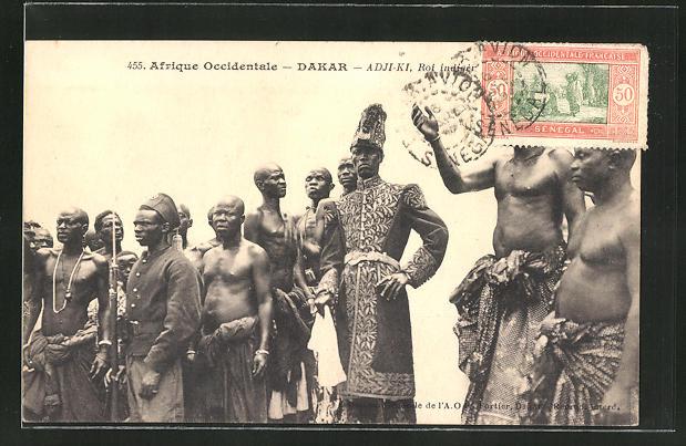 AK Dakar, Adi-Ki, Roi indigène, senegalesischer Fürst