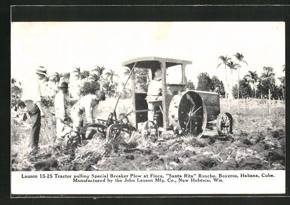 AK Havana, Lauson 15-25 Traktor auf der Finca