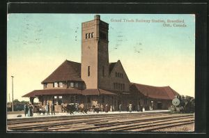 AK Brantford / Ontario, Grand Trunk Railway Station, Bahnhof