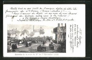 AK St. Pierre, Incendie de la nuit du 1er au 2 Novembre 1902, Zerstörungen nach einem Brand