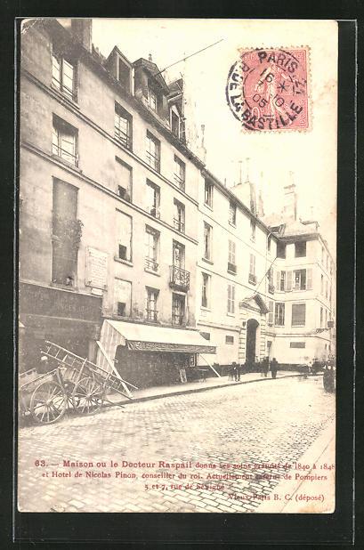 AK Paris, 5 Rue de Sévigné, Caserne des Pompiers, Feuerwehr