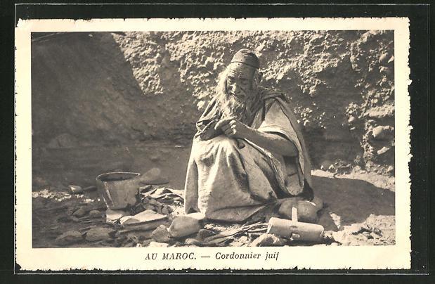 AK Maroc, Cordonnier juif, jüdischer Schuhmacher