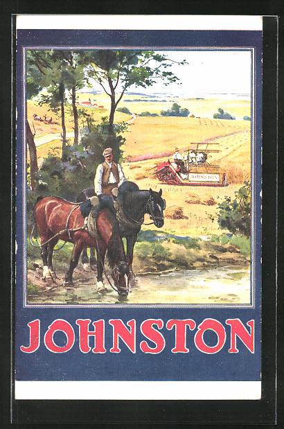 AK Johnston, Reklame für Erntegerät, Landwirtschaft