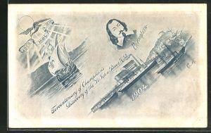AK Canada, Fercentenary of Champlains Discovery of the St. John River, Samuel de Champlain