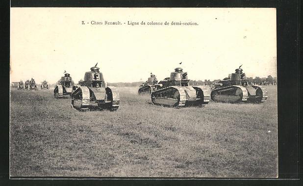 AK Chars Renault, Ligne de colonne de Demi-section, französische Panzer
