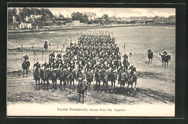 AK Buenos Aires, Kavallerie-Escorte des Präsidenten, Escolta Presidencial