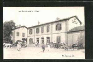 AK Orleansville, La Gare, Bahnhof