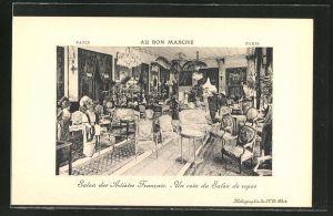 AK Paris, Au Bon Marche, Un coin du Salon de repos