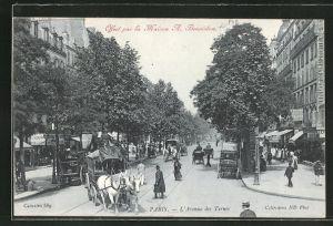 AK Paris, Offert par la Maison A. Benoiston, Pub, L'Avenue des Ternes