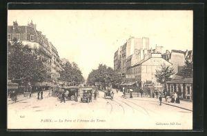 AK Paris, La Porte et l'Avenue des Ternes