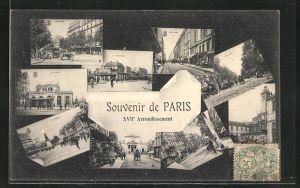 AK Paris, verschiedene Orts- und Strassenansichten