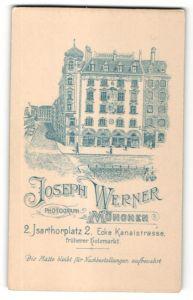 Fotografie Joseph Werner, München, Ansicht München, Geschäftshaus & Foto-Atelier am Isarthorplatz 2