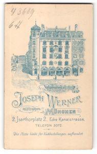 Fotografie Joseph Werner, München, Ansicht München, Geschäftshaus und Foto-Atelier am Isarthorplatz 2