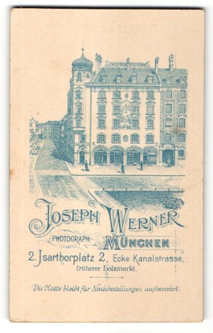 Fotografie Joseph Werner, München, Ansicht München, Foto-Atelier & Geschäftshaus am Isarthorplatz 2
