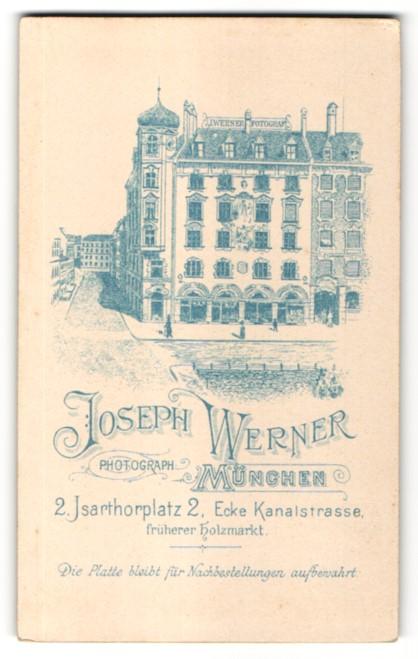 Fotografie Joseph Werner, München, Ansicht München, Foto-Atelier und Geschäftshaus am Isarthorplatz 2