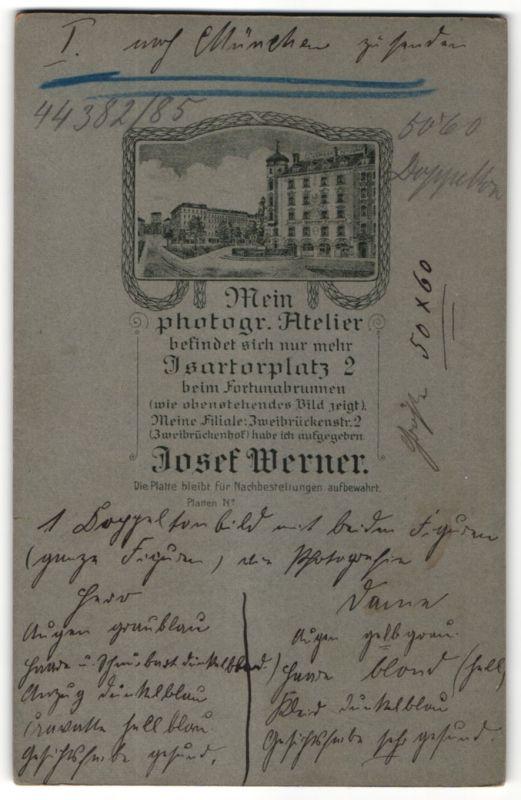 Fotografie Joseph Werner, München, Ansicht München, Foto-Atelier und Geschäftshaus am Fortuna-Brunnen Isarthorplatz 2