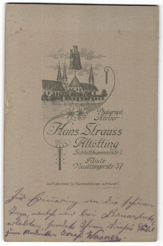 Fotografie Hans Strauss, Altötting, Ansicht Altötting, Maria über dem Kloster Schlottkammerstraé
