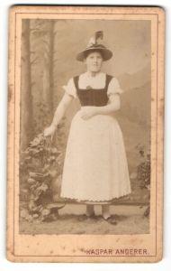 Fotografie Kaspar Angerer, Schwaz / Tirol, Tiroler Dame in Tracht