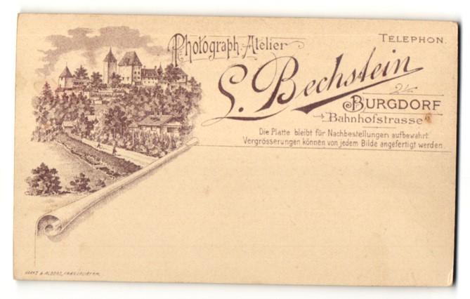 Fotografie S. Bechstein, Burgdorf, Ansicht Burgdorf, Ortsansicht mit Atelier in der Bahnhofstrasse
