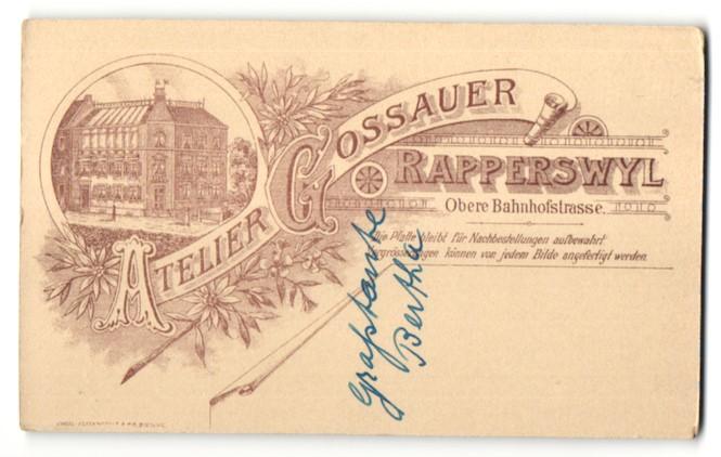 Fotografie Atelier Gossauer, Rapperswyl, Ansicht Rapperswyl, Atelier & Geschäftshaus Obere Bahnhofstrasse