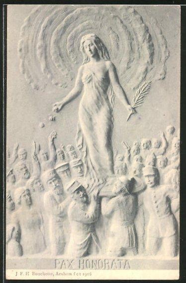 AK Soldaten tragen eine Frau mit Ölzweig durch die Menge, Friedensbewegung,
