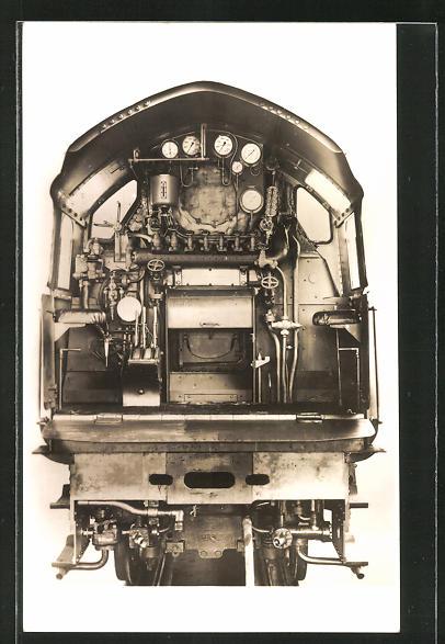 AK englische Eisenbahn, Cab of L-N-E-R High Pressure Compound, Express Locomotive
