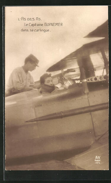 AK Pilot Kapitän Guynemeer im Flugzeug