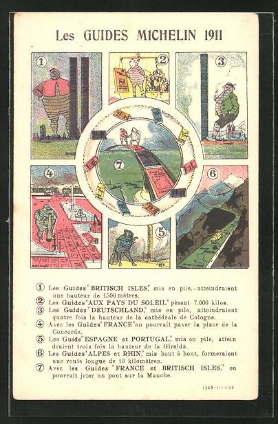 AK Reklame Les Guides Michelin 1911, Britisch Isles, Aux Pays du Soleil
