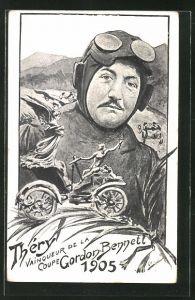 AK Thery, Vainqueur de la Coupe Gordon Bennett 1905, Autorennen