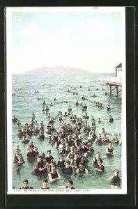 AK Utah, Bathing at Saltair, Great Salt Lake