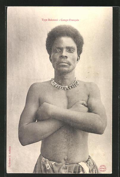 AK Type Bakoumi, afrikanischer junger Mann mit Halskette