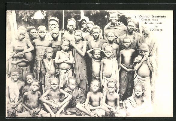 AK Saint-Louis, Groupe paien de l'Oubanghi, Congo francais, afrikanische Volkstypen