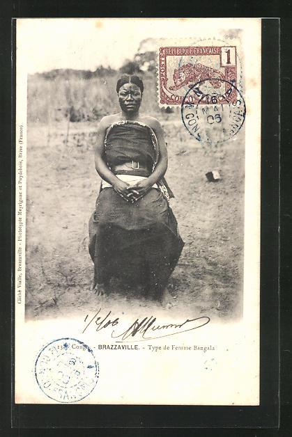 AK Brazzaville, Type femme Bangala, afrikanische Volkstypen