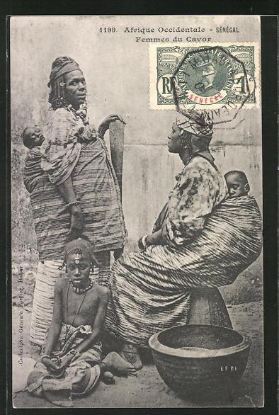 AK Senegal, Femmes du Cayor, afrikanische Volkstypen