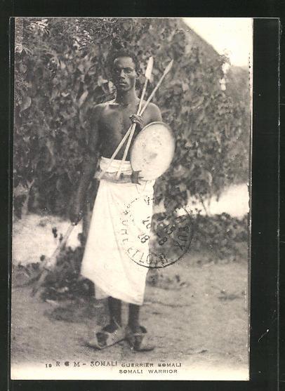 AK afrikanische Volkstypen, Somali Guerrier