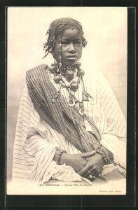 AK Senegal, Jeune fille du Cayor, Afrikanerin in Tracht