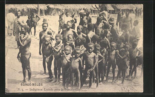 AK Congo Belge, Indigènes Lukele près de Stanleyville, afrikanische Volkstypen