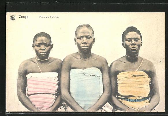 AK Congo, Femmes Batetela, afrikanische Volkstypen