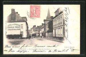AK Yerville, La Grande-Rue prise du Carrefour