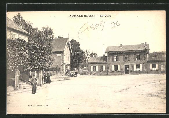 AK Aumale, La Gare, Motiv vom Bahnhof