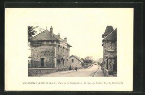 AK Villeneuve-Le-Roi, Parc de la Faisanderie, Bureau de Poste, Rue du Commerce