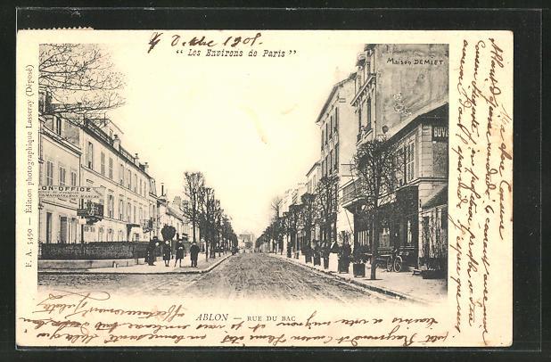 AK Ablon, Rue du Bac, Strassenpartie