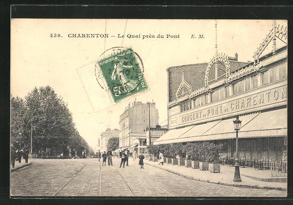 AK Charenton, Le Quai pres du Pont