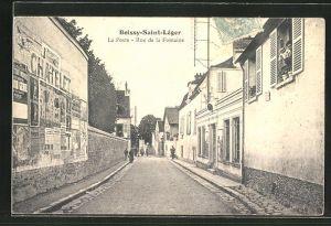 AK Boissy-Saint-Leger, La Poste, Rue de la Fontaine