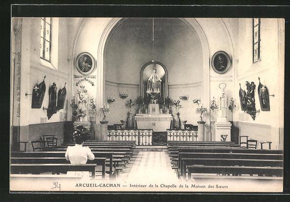 AK Arcueil-Cachan, Interieur de la Chapelle de la Maison des Soers