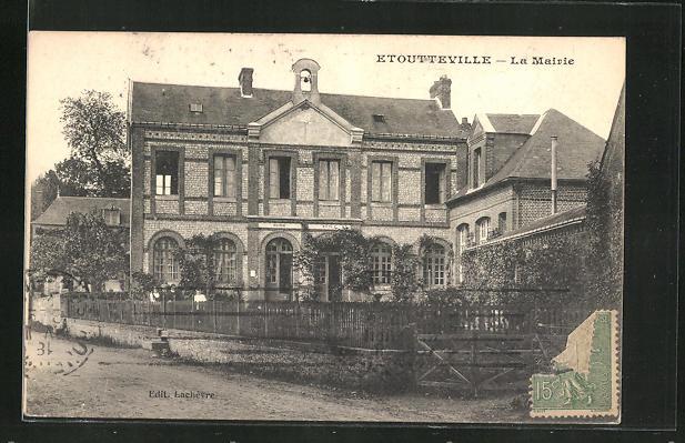 AK Etoutteville, La Mairie, Sicht auf das Rathaus